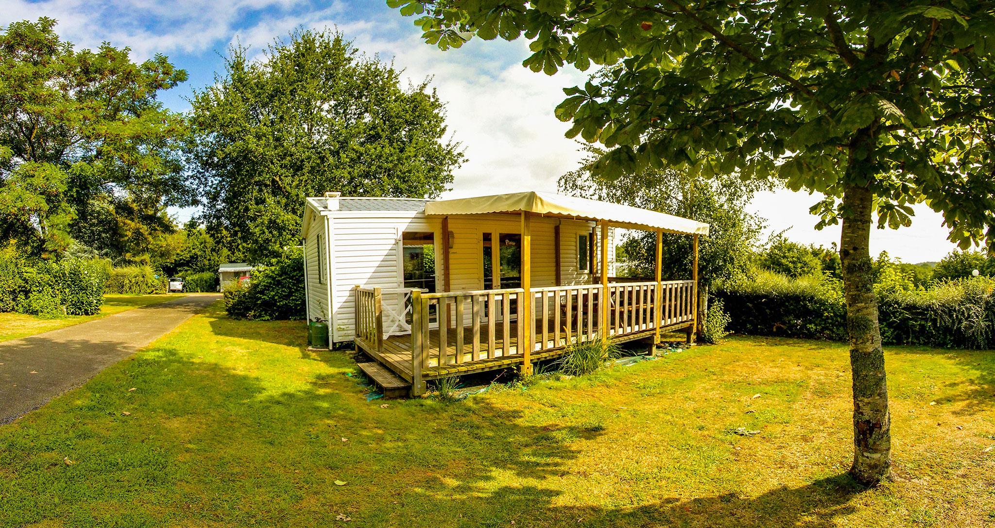 Vue d'une location de Mobil Home en camping à Lorient Ty Nenez