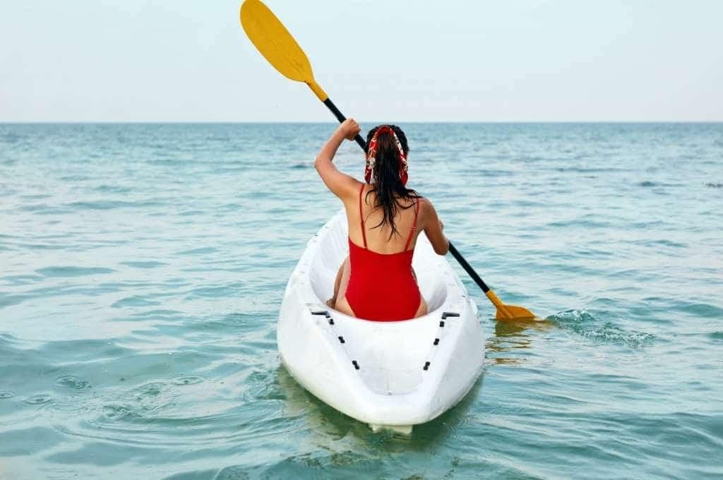 Canoe En Mer A Concarneau